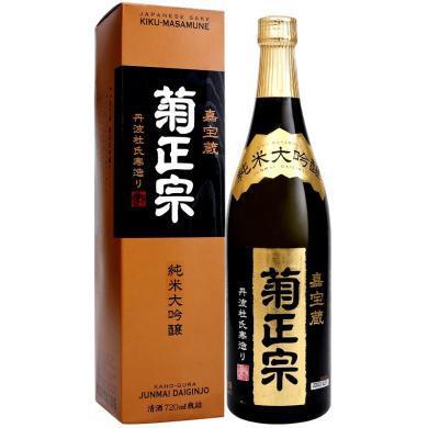 日本原裝進口清酒洋酒 菊正宗 純米大吟釀 清酒1.8L 禮盒裝