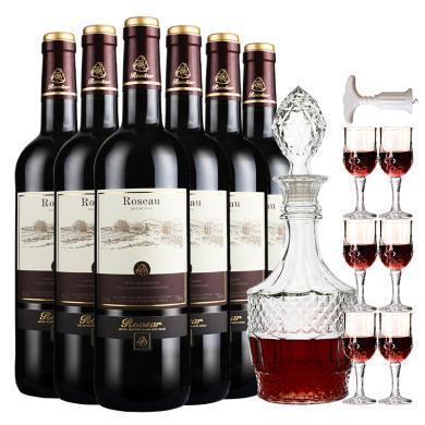 法國原瓶進口紅酒整箱 羅莎莊園(ROOSAR)羅莎愛語(優雅版)干紅葡萄酒六支整箱裝750ml*6