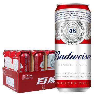 Budweiser 百威啤酒500ml*18听