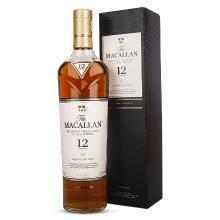 麥卡倫(MACALLAN) 英國原裝進口Macallan麥卡倫單一麥芽蘇格蘭威士忌系列 麥克倫12年 700ml