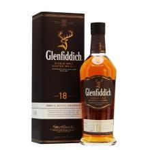 格蘭菲迪(Glenfiddich)進口洋酒純麥威士忌 蘇格蘭達夫鎮單一麥芽威士忌 18年 700ml