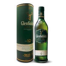 格蘭菲迪(Glenfiddich)進口洋酒純麥威士忌 蘇格蘭達夫鎮單一麥芽威士忌 12年 700ml