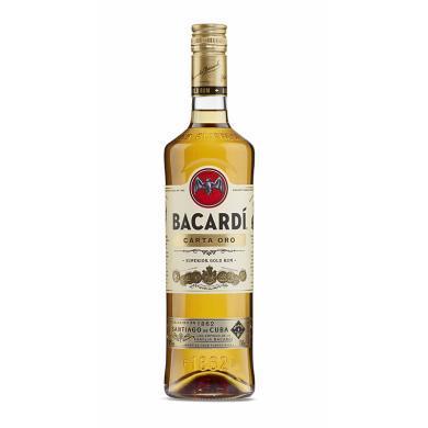 洋酒 百加得(Bacardi ) 超级朗姆酒 鸡尾酒烘焙基酒 金朗姆750ml