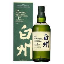 日本原裝進口洋酒 SUNTORY三得利單一麥芽威士忌 白州12年 700ml(新老包裝隨機發貨)