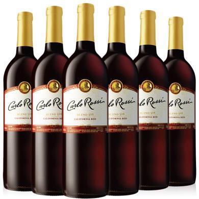 美國原瓶進口紅酒 加州樂事葡萄酒 整箱 750ml*6 Blend308紅葡萄酒