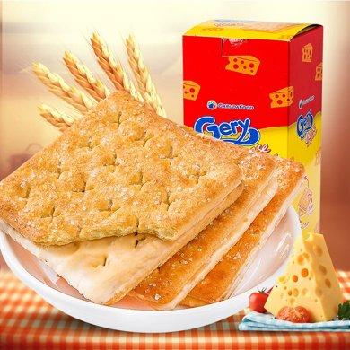 Gery芝士夾心餅干 奶酪味餅干220g*3 印尼進口 奶酪夾心涂層 酥脆可口