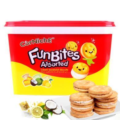印尼进口饼干 可尼斯什锦味夹心饼干600g盒装 休闲零食办公室零食进口零食品