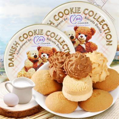 马来西亚进口麦阿思小熊松脆曲奇饼干255g休闲零食品罐装
