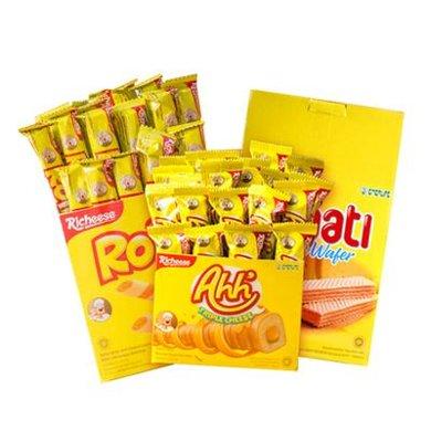 【包郵】印尼進口 麗芝士納寶帝系列餅干 3種口味3盒組合裝