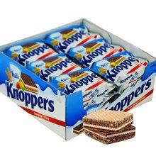 knoppers威化餅 德國威化餅干knoppers24包五層夾心進口零食