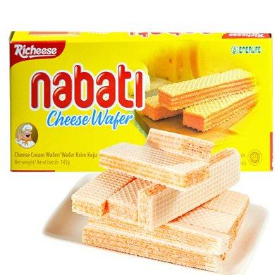 印尼進口 麗芝士Richeese納寶帝奶酪夾心威化餅干 休閑辦公零食甜點下午茶點旅游戶外