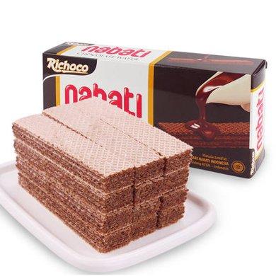 印尼進口 麗巧克巧克力味夾心威化餅干休閑零食品辦公小吃糕點