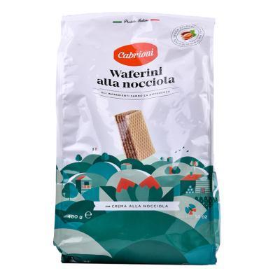 意大利進口 卡布萊妮(Cabrioni)榛子味夾心威化餅干400g 休閑零食糕點