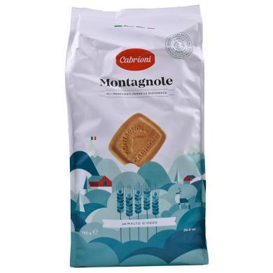意大利進口 卡布萊妮(Cabrioni)方形原味曲奇餅750g 休閑零食糕點 辦公室零食