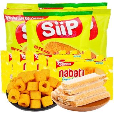印尼进口丽芝士/Richeese纳宝帝芝士夹心奶酪威化饼干