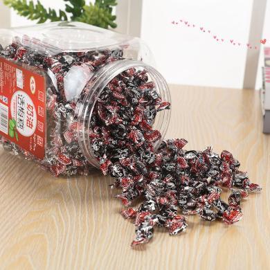 550克惠客奶油話梅糖果罐裝千紙鶴糖男女零食禮品水果糖酸酸味