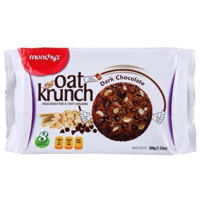 $馬奇新新黑巧克力豆燕麥餅干(208g)