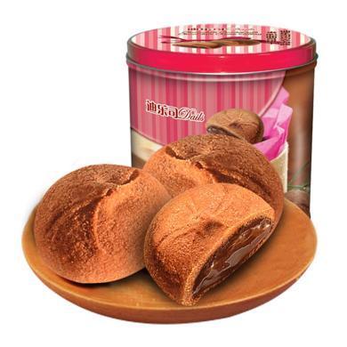 進口迪樂司巧克力醬夾心罐裝曲奇餅干300g送禮休閑零食代餐茶點年貨