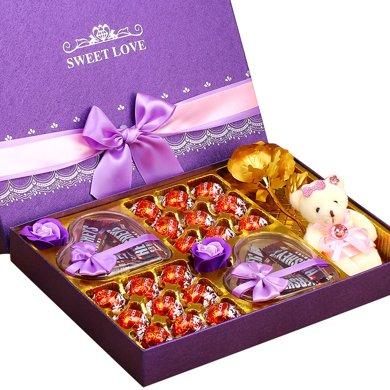 Lindt瑞士蓮好時巧克力禮盒裝 瑞士蓮軟心巧克力禮盒送女友圣誕節禮物