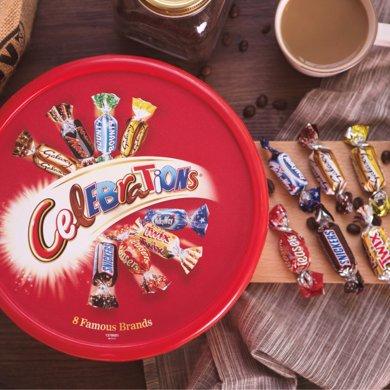 英国进口巧克力玛氏糖果Mars?#27493;?#31958;果圣诞节礼盒8种口味680g包邮