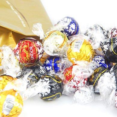 Lindt瑞士蓮夾心巧克力軟心球600g進口精選lindor混合5味喜糖 散裝