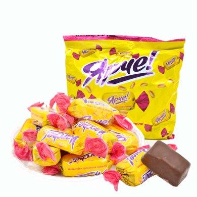 【滿199減100】KDV 花生糖巧克力士力架500g*1袋 夾心巧克力進口糖果喜糖巧克力年貨休閑零食巧克力