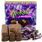俄罗斯紫皮糖kpokaht巧克力元旦节糖果KDV500g喜散装批发年货