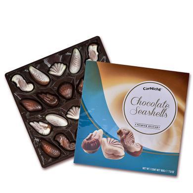 比利時進口 可尼斯CorNiche 貝殼形夾心巧克力禮盒裝195g 糖果生日圣誕節禮物