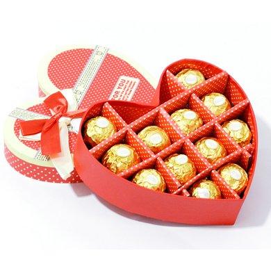 費列羅巧克力心形禮盒裝12顆創意費雷羅巧克力情人節婚慶禮物