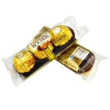 費列羅巧克力T3粒榛果威化巧克力3粒裝費力羅婚慶喜糖兒童節散裝