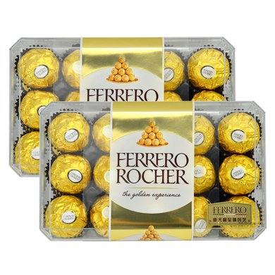 費列羅巧克力禮盒裝30粒*2盒婚慶費力羅喜糖散裝批發進口送女友禮物60?;閼c喜糖