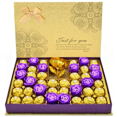 費列羅巧克力禮盒裝 費力羅情人節巧克力禮盒送女友520生日禮物月光禮盒28順豐包郵