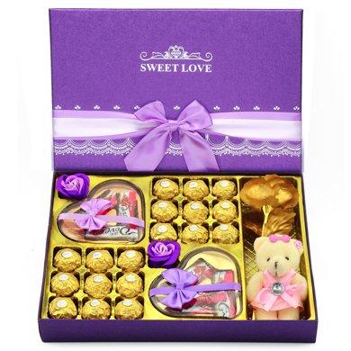 費列羅巧克力禮盒裝 德芙巧克力禮盒裝 送女友朋友家人生日節日禮物紫此一生順豐包郵