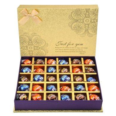 瑞士蓮巧克力禮盒裝 Lindt黑軟心球教師節節日禮物愛情迷宮月光禮盒30粒裝