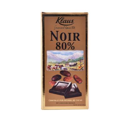 克勒司70%黑巧克力100g排块 法国原装进口
