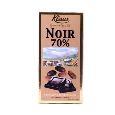 法國原裝進口 克勒司70%黑巧克力100g排塊 零食情人禮物