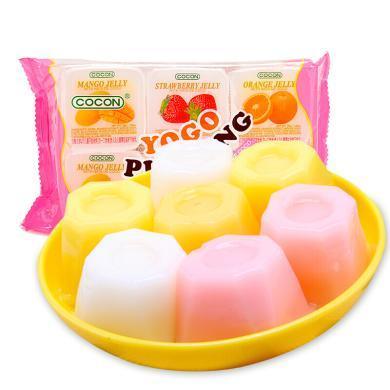 馬來西亞進口 可康牌cocon 酸奶果凍 綜合果味果肉布丁35g*6杯 進口休閑零食兒童食品
