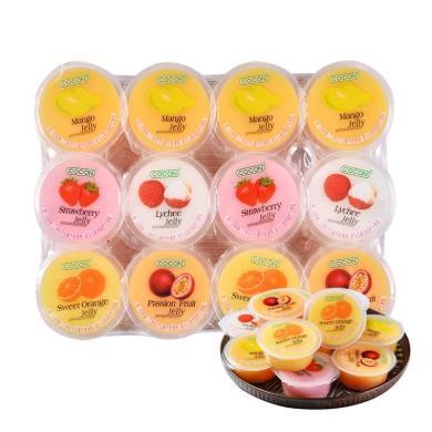 马来西亚进口 可康牌cocon 多口味果冻(含椰纤果) 大包装 (80克*24杯 )
