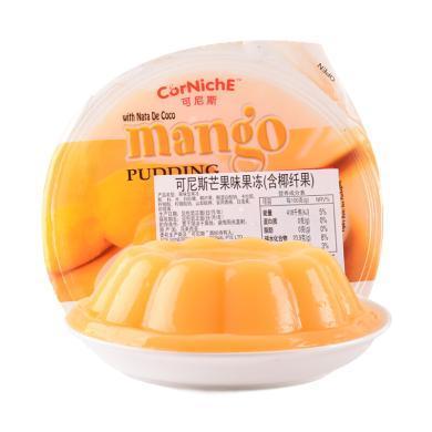 馬來西亞進口 可尼斯(CorNiche)芒果味果凍布?。êw果)410g 大杯碗裝 零食