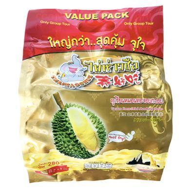 【支持購物卡】泰國 泰好吃 榴蓮干280g 內8小包 香甜美味 香港直郵