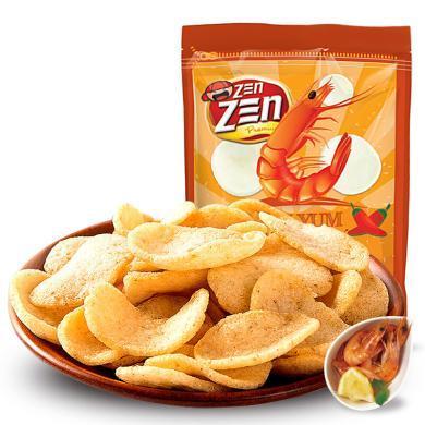马来西亚进口零食 印象虾条味薯片 进口膨化休闲零食品 泰式东炎味70g
