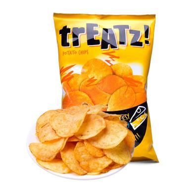 脆滋奶酪味香脆薯片袋裝150g辦公室休閑零食馬來西亞原裝進口