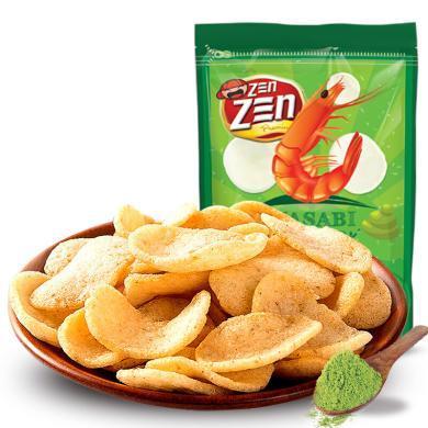 馬來西亞進口零食 印象芥末味大蝦片70g蝦條味薯片 進口膨化休閑零食品 芥末味70g