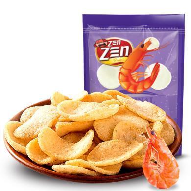 馬來西亞進口零食 印象原味大蝦片70g蝦條味薯片 進口膨化休閑零食品 原味70g