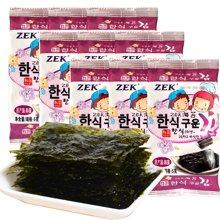 韓國進口 ZEK原味海苔15g*3進口休閑零食