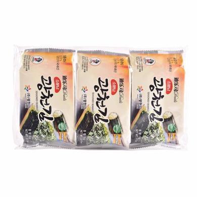 韓國原裝進口 迪樂司海苔 紫菜 海味食品休閑零食小吃 5克*12袋裝