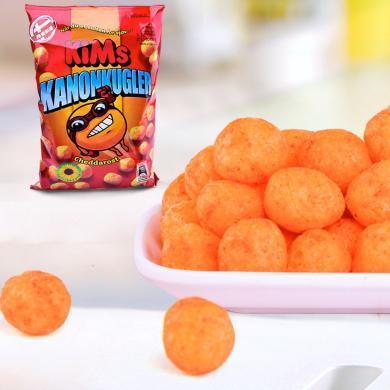 丹麥進口 KIMS芝士奶酪味玉米脆脆球135g休閑膨化食品辦公室零食