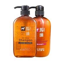 熊野油脂(KUMANO COSMETICS )马油保湿洗发润发套装 2瓶