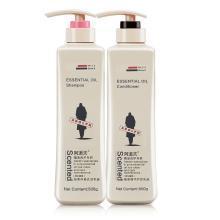 阿道夫 轻柔丝滑洗发水500ml+植萃护发素500ml洗护柔顺套装