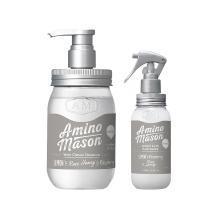 【1+1】AMINO MASON 氨基酸顺滑无硅油洗发水(清爽型)+营养水喷雾组合装